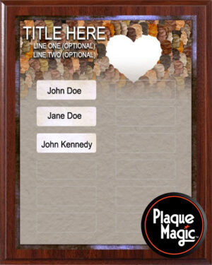 People United - 12 Plate Perpetual Plaque