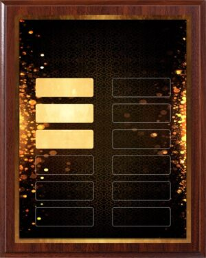 Gold Glow | Perpetual Recognition Award 12 Plate Plaque