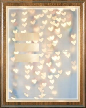 Falling Hearts – DIY Perpetual | Recognition | Appreciation | Award Plaque Kit (12 Plate)