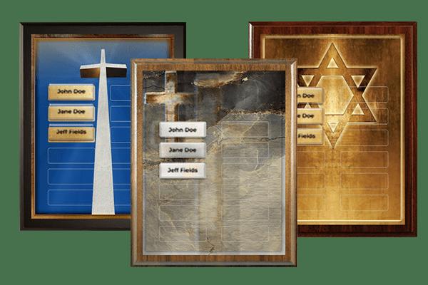 Religious & Spiritual Plaque Category